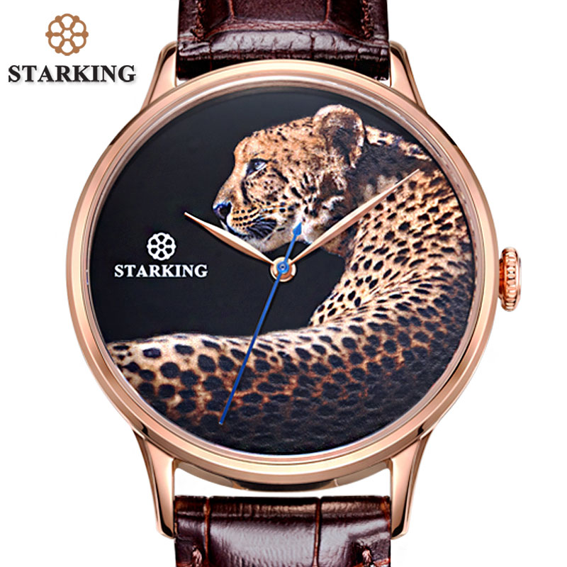 STARKING New Arrival Fashion Men Automatic Watch Luxury Top Design Leopard Dial Wristwatches Male Steel Business Watch RelogioSTARKING New Arrival Fashion Men Automatic Watch Luxury Top Design Leopard Dial Wristwatches Male Steel Business Watch Relogio