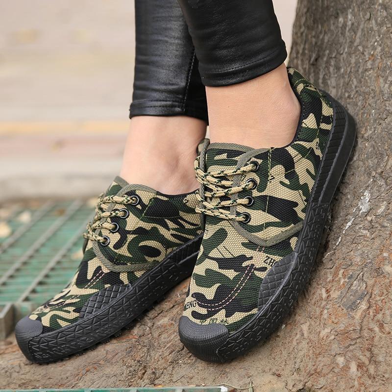 Flat Shoes Women Canvas Platform Shoes 2018 Autumn Espadrilles Women Camouflage Sneakers Breathable Ladies Casual Shoes