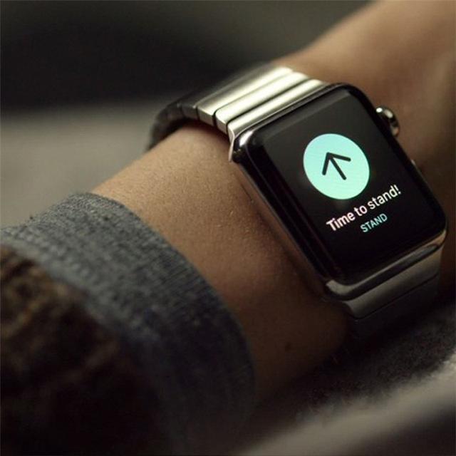 316l pulseira link para apple watch band 42mm 38 inoxidável cinta de aço com 1:1 original fecho espaço prata preto rosa ouro