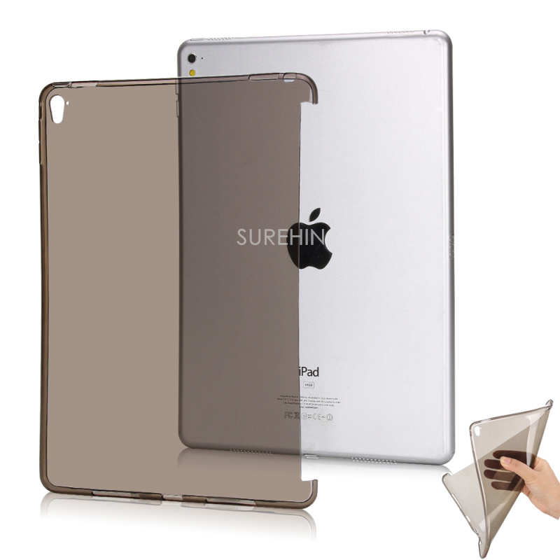 Clear flexible silicone case for apple ipad air 1 smart cover partner transparent soft tpu bottom back case surehin nice tpu silicone soft edge cover for apple ipad air 2 case leather sleeve transparent kids thin smart cover case skin