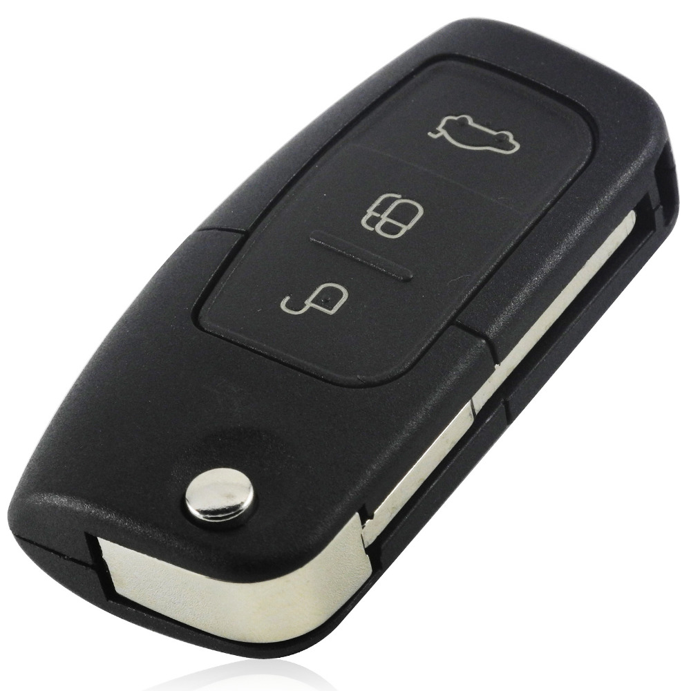 With Sticker Remote Key Shell Fob Case Cover 3 Button For Ford Focus Mondeo C Max S Max Galaxy Fiesta Ka