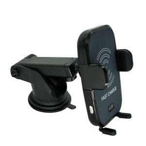 Image 3 - Rápido Carregador de Carro Sem Fio Sensor Infravermelho Automático Car Mount Air Vent Phone Holder Cradle para iPhone 8/8 Plus/X samsung S9 S8