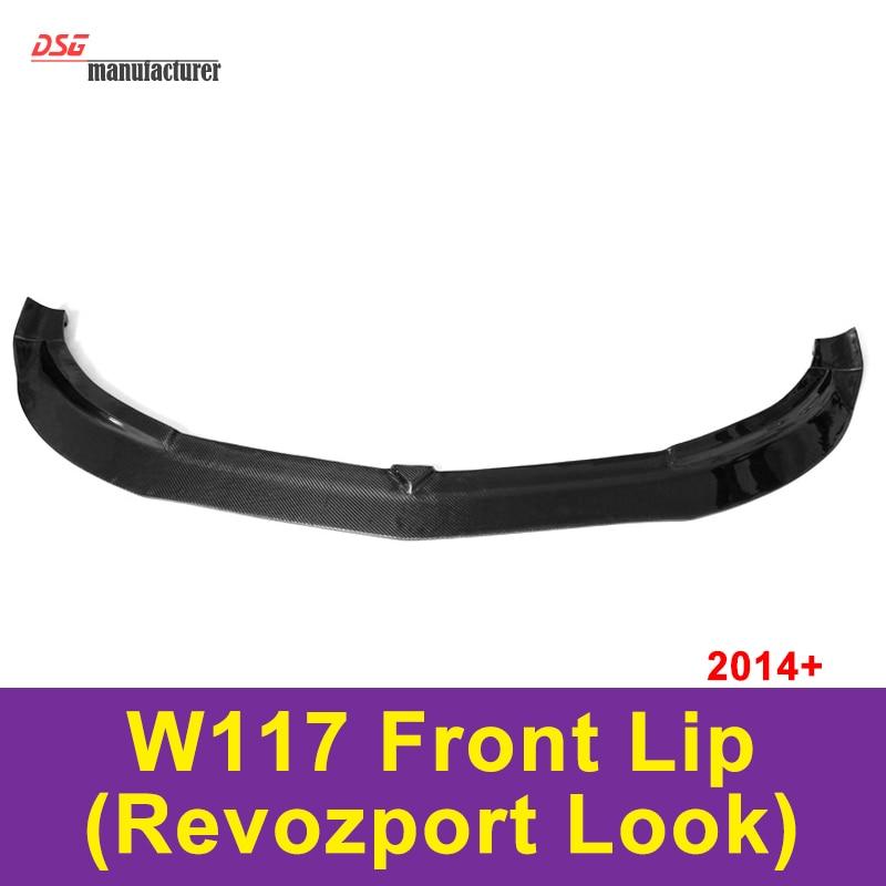 Mercedes W117 Carbon fiber front lip for Mercedes CLA class 2014 - 2016 CLA200 CLA180 revozport style bumper lip