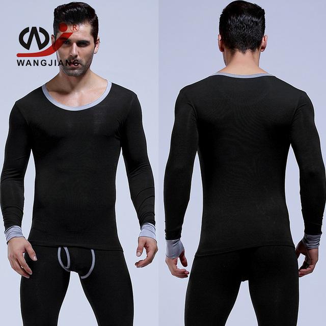 Wj calzoncillos largos los hombres underwear termico cuerda térmica leggins hombres pantalon homme para hombre pijamas ropa de noche atractiva
