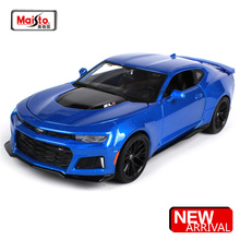 Maisto 1:24 2017 Chevrolet Camaro ZL1 Blue Red wine Sports Car Diecast Model Car Toy New In Box Free Shipping NEW ARRIVAL 31512