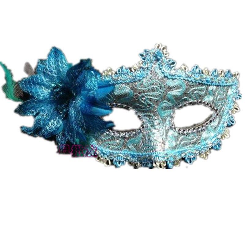 Flower Halloween mask sexy masquerade masks Dance Party Bar Princess Venice Mask High-grade Rose Party Mask Supplies (1)
