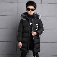 Kids Jackets 2017 Winter Baby Boys Jacket For Boys Outerwear Coat Parkas Children Warm Thicken Cotton padded Clothes