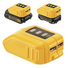 Universal Phone USB Charger Adapter Converter for DEWALT 12/18/20V Li-ion DCB090 New