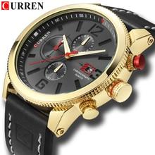CURREN 8281 Mens Watches Waterproof Top Brand Luxury Chronograph Date