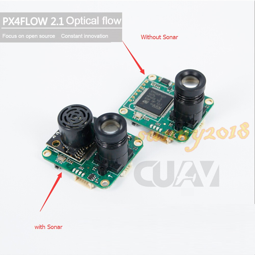 CUAV PX4FLOW 2.1 Optical Flow Sensor Smart Camera for PX4 PIXHAWK Flight Control without Sonar or with sonar цена