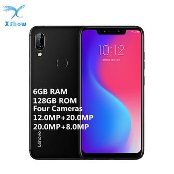 Lenovo S5 Pro 6GB RAM 128GB ROM Notch Screen Mobile Phone 20MP Four-cams 6.2inch 8-core 4G LTE Unlocked Smartphone Lenovo Phones