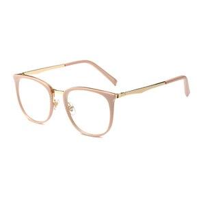 Image 5 - בציר משקפיים אופטיים נשים מסגרת סגלגל מתכת יוניסקס נשי משקפיים משקפיים oculos דה משקפי מרשם משקפיים