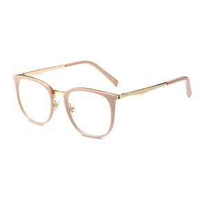 Image 5 - Vintage optik gözlük kadın çerçeve Oval Metal Unisex gözlük kadın gözlük óculos de gözlük reçete gözlük
