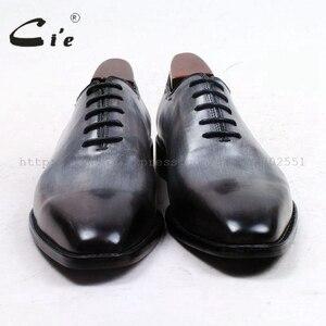 Image 3 - Cie vierkante vlakte teen hele cut patina grijs 100% echt kalfsleer zool ademende mannen schoen bespoke lederen mannen schoen ox509