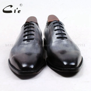 Image 3 - cie square plain toe whole cut patina grey 100%genuine calf leather outsole breathable mens shoe bespoke leather men shoe ox509