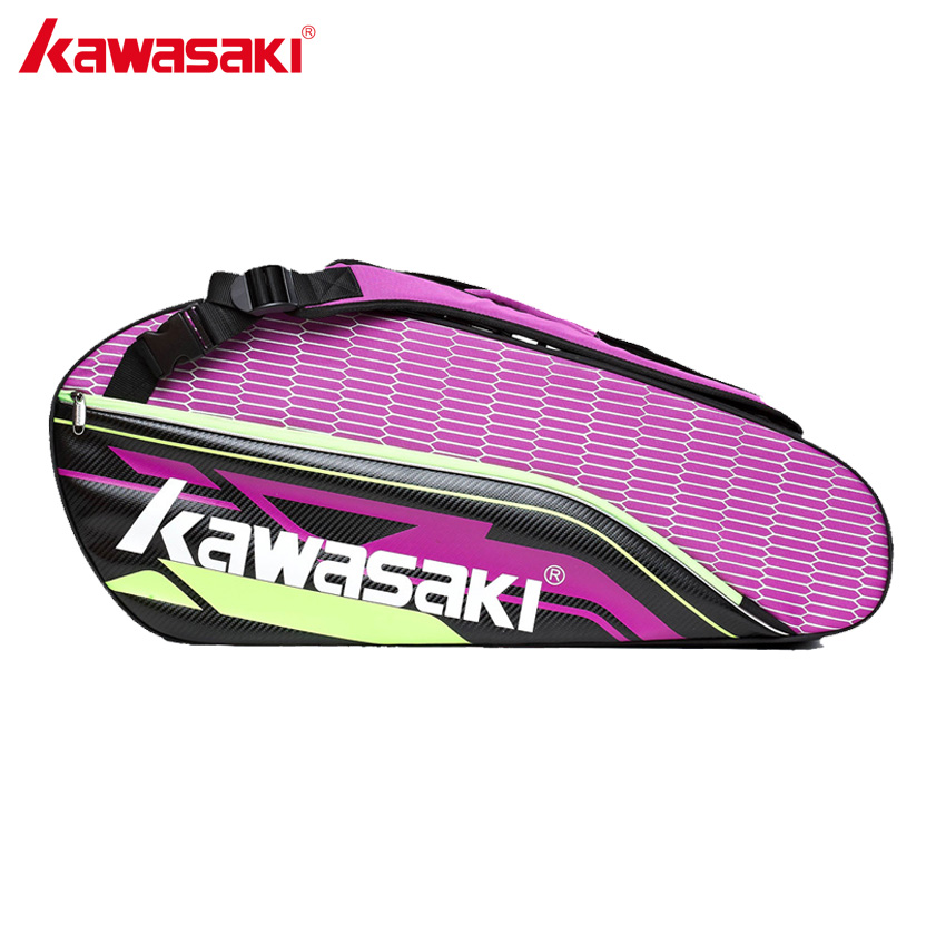 KAWASAKI Brand Professional Tennis Badminton Racket Bag With Additional Shoes Bag Double Layer Sports Bags KBB-8680