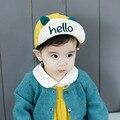 6-36 Meses Novo Chapéu Bonito Do Bebê Olá Carta Impressão Sorriso boné de beisebol do Algodão cap chapéu do bebê kid meninos e menina plana casquette chapéu de sol y3