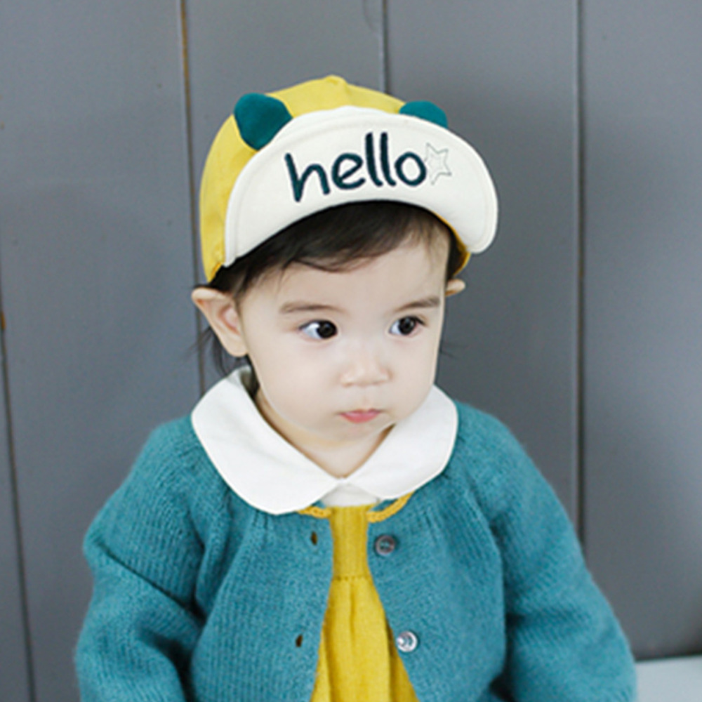 6 36 Months New Cute Baby Hat Hello Letter Print Smile Cotton