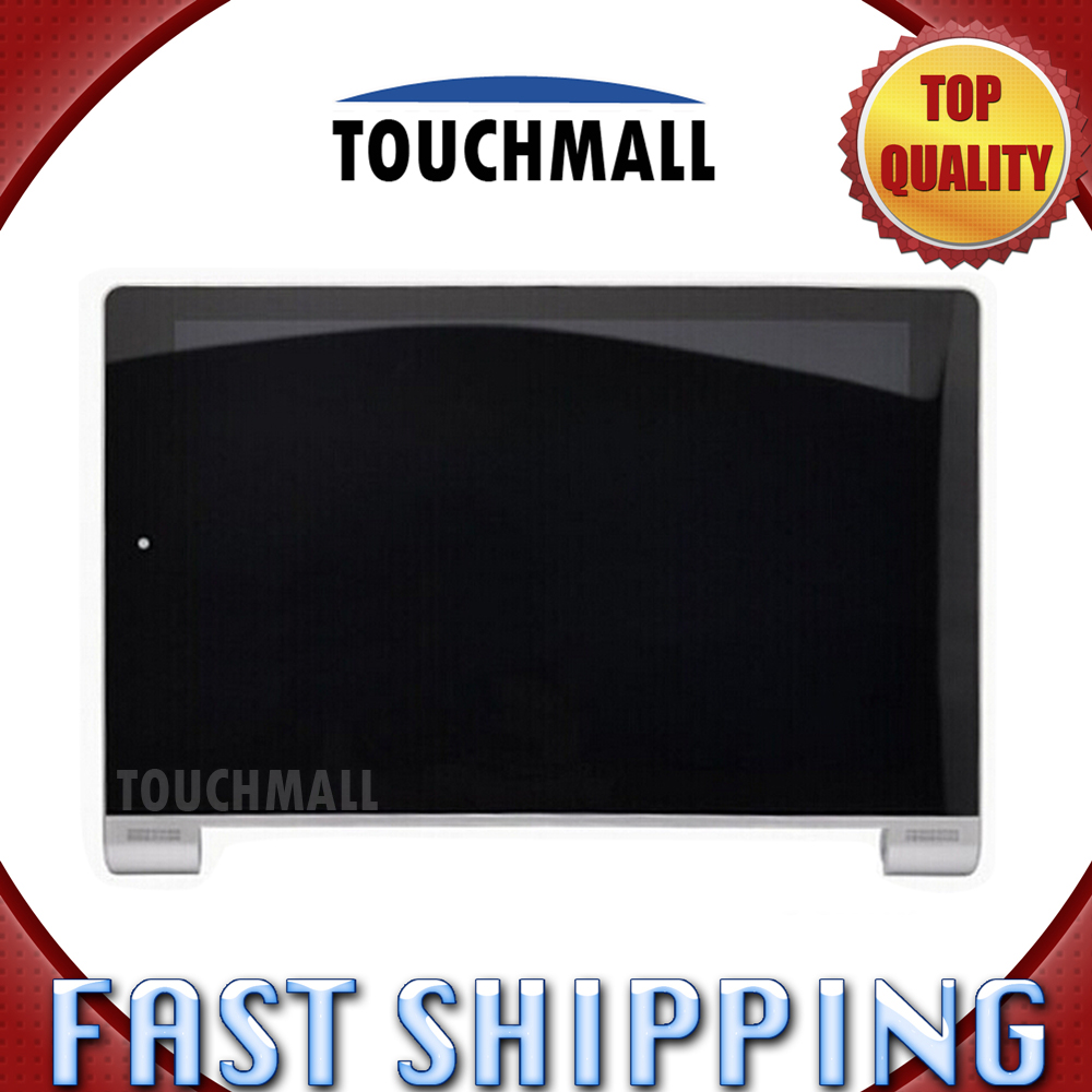 For New LCD Display Touch Screen with Frame Assembly Replacement Lenovo Yoga 10 B8000 White Free Shipping
