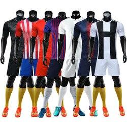 18/19 Blank Soccer Jersey & shorts Adults & children jerseys Football uniform Soccer Training Suit Running Sportswear Customized