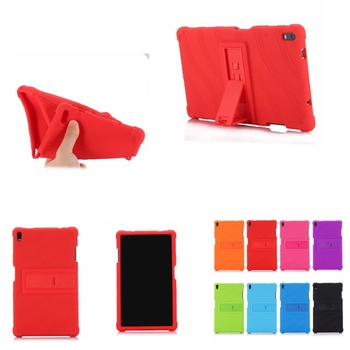 Soft Silicone Rubber TPU Back Cover Case for Lenovo Tab 4 8 Plus TB-8704F TB-8704N TB-8704X TB-8704 8 inch Tablet with Stand