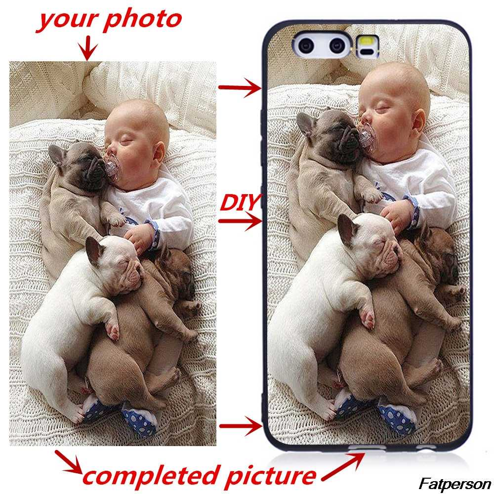 2019 new Custom Photo Phone Case For Huawei P8 P9 Lite 2016 2017 P8 P9 P10 P20 P30 Lite DIY Logo black Soft Silicone Phone Cover