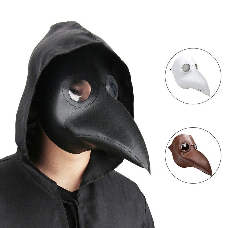 Takerlama Cospaly Dr Beulenpest Steampunk Peste Médecin Masque Faux En Cuir Oiseaux Bec Masques Halloween Art Cosplay Carnaval Props