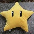 1 unids New Super Mario Bros peluches lindos de la historieta estrella amarilla de peluche muñeca de peluche Pillow regalo de los cabritos aprox 30 cm / 12 pulgadas