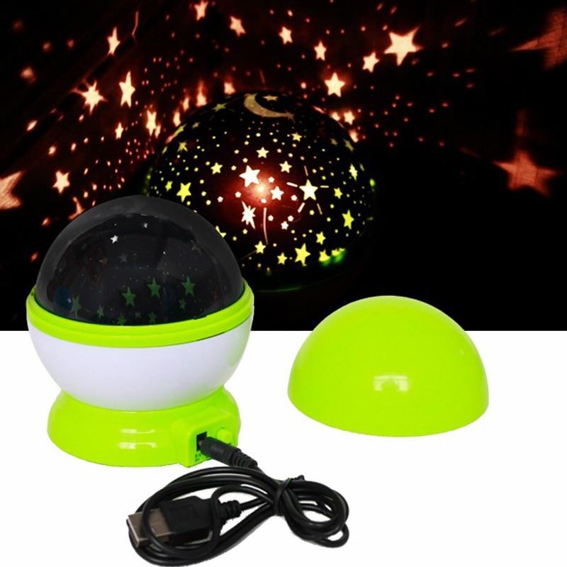 LED-es éjszakai fényprojektor Csillagos égbolt Csillagok hold - Beltéri világítás