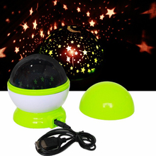 Magic Novelty LED Night Light Rotating Star Starry Projector Table Lamps For Children Gift Baby Kids Room Bedside Decor USB Plug