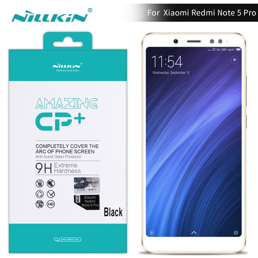 Redmi note 5 pro glass screen protector 5.99'' NILLKIN 9H 2.5D Tempered Glass Screen Protector for xiaomi redmi note 5 prime