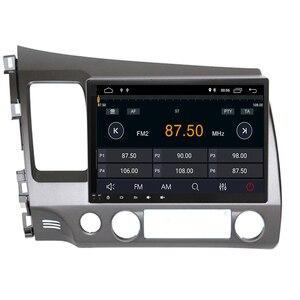 10.2'' Android 10 4324G Car DVD Player GPS Navigation System Media Stereo Radio for Honda Civic 2006-2011 Sat Audio Video USB