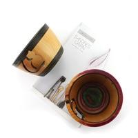 knitting crochet wooden yarn bowl