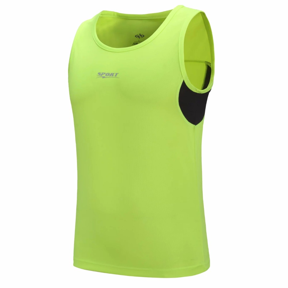 16 17 New Men's Summer O Collar Sleeveless Running Vests Quick Dry Basketball T-Shirt Male Sport Tops Breathable Jogging Shirts