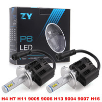 Best Item P6 110W 10400LM PhilipsLED Headlight Kit Conversion Canbus Bulb H4 H7 H11 9005 9006 H13 9004 9007 H16