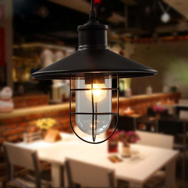Retro vintage industrial lampshade loft style cafe restaurant suspension pendant light Iron matel and Glass droplight AC110V/220 vintage iron pendant light industrial loft retro droplight bar cafe bedroom restaurant american country style hanging lamp avize