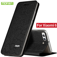 For Xiaomi Mi 6 Case Cover Silicon Back With Flip Luxury Leather Original Mofi Xiomi Mi