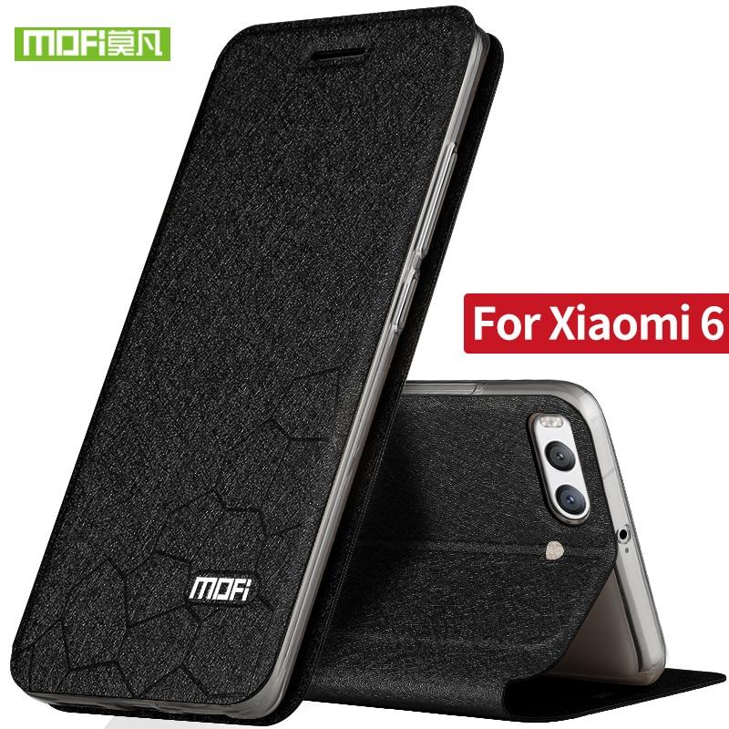 Xiaomi Mi6 case cover silicon flip leather original Mofi Xiaomi Mi 6 case luxury armor matte shockproof Xiomi mi6 case fundas