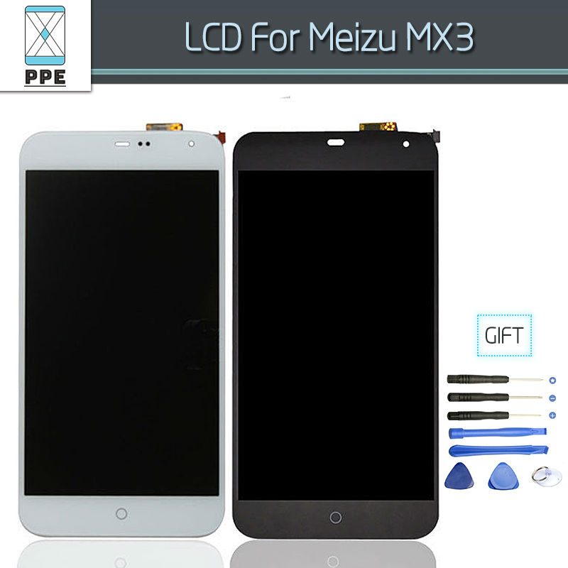 LCD Assembly For Meizu MX3 LCD Display Touch screen Digitizer Complete Replacement Black White Free Shipping+Tools