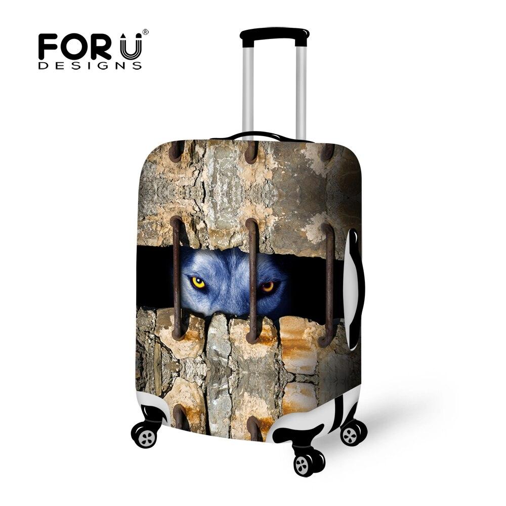 FORUDESIGNS/модные животных печати Чемодан Чехлы для 18-28 чемодан животных дорожные аксессуары эластичные Чемодан Защитная крышка