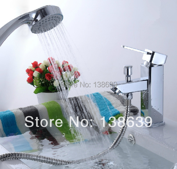 Modern Style Pull Out Faucet Chrome Water Power Swivel Kitchen Basin Sink Mixers Taps Single Handle