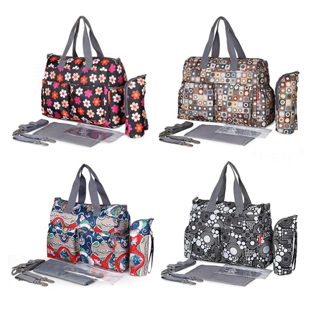 Image 4 - Многофункциональная водонепроницаемая сумка для беременных и для подгузников, большая вместительность, модная сумка для мам, сумки для кормления детей, сумка на колесиках-in Сумки для подгузников from Мать и ребенок