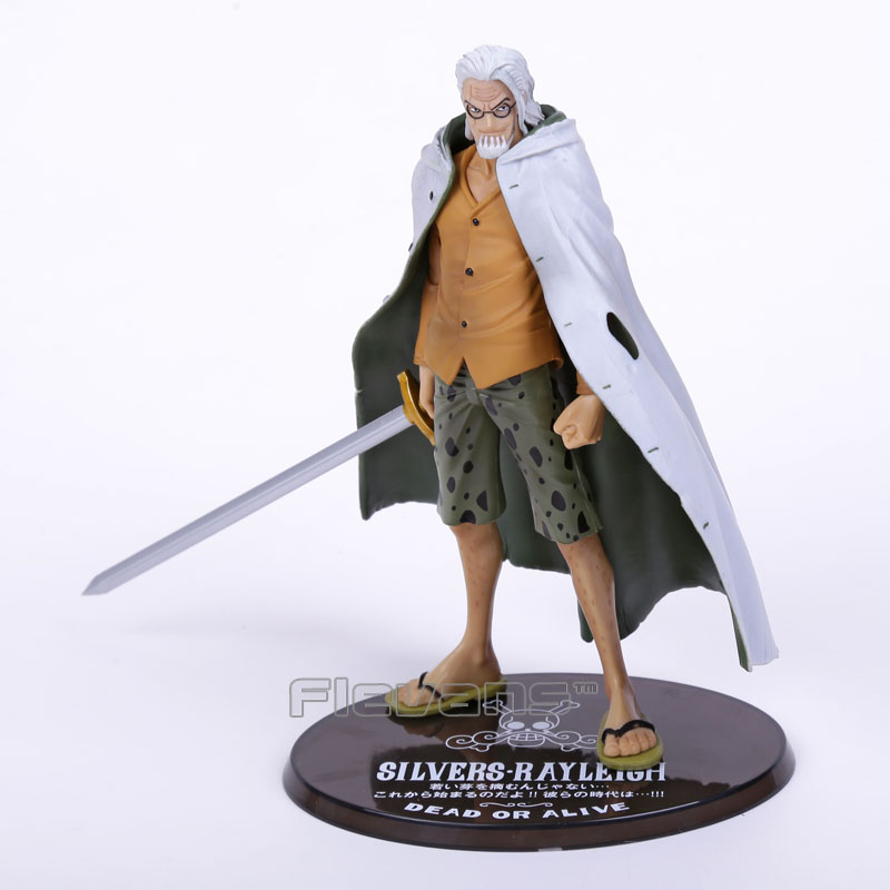Anime One Piece Figuarts Zero Silvers Rayleigh Dead Or Alive PVC Figure Collectible Model Toy 17cm one piece action figure roronoa zoro led light figuarts zero model toy 200mm pvc toy one piece anime zoro figurine diorama