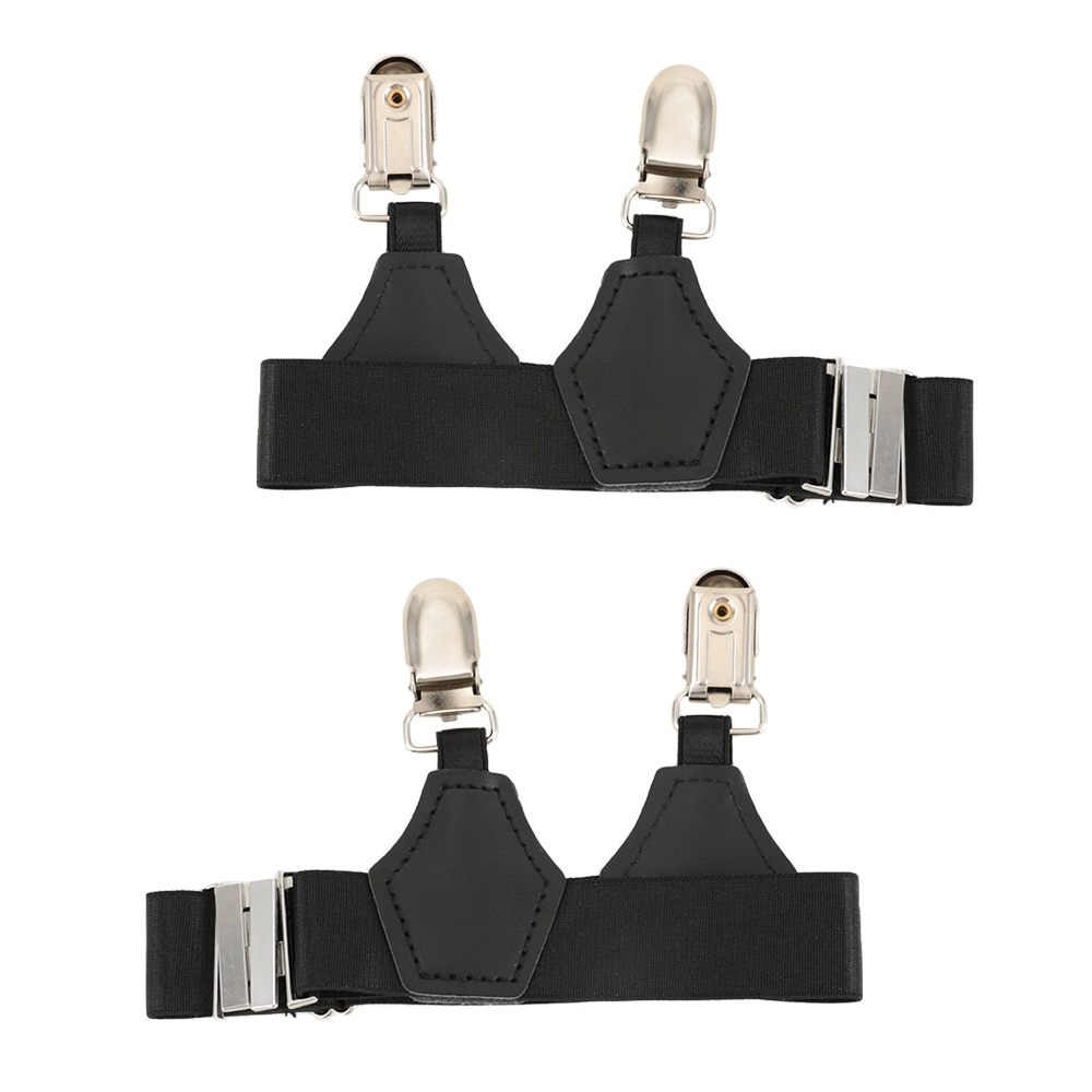 1 Pair Mens Sock Black Suspenders Prevent Falling Off Sock Garters High Elastic Band Adjustable Single Duck-Mouth Clip Suspender