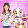 128pcs Children S Creativity Pop Puzzle Plastic Decorative Assembly Bead Girl DIY Manual Cordless Beads Toys