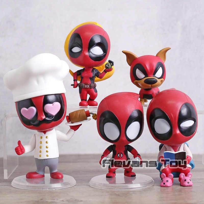 X-Men DEADPOOL Cosbaby Dogpool Kidpool Headpool LadyDeadpool Q Versão PVC Figura Bonecas Brinquedos Decoração Do Carro