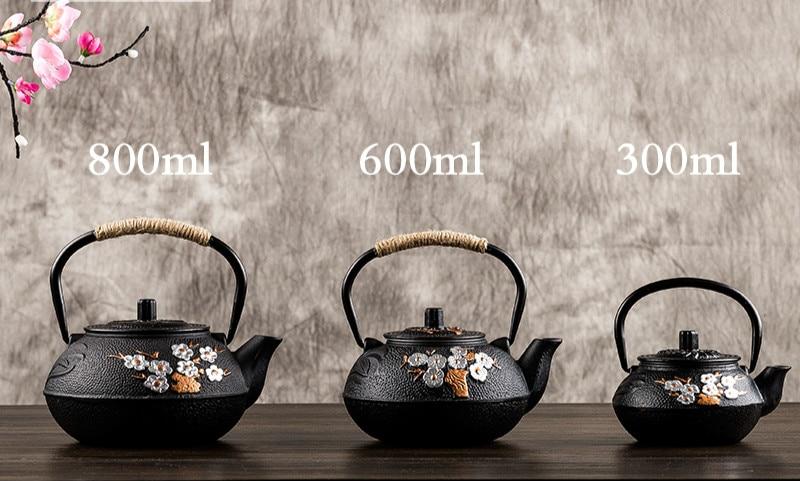 Traditional Flower Tetsubin Kettle 1