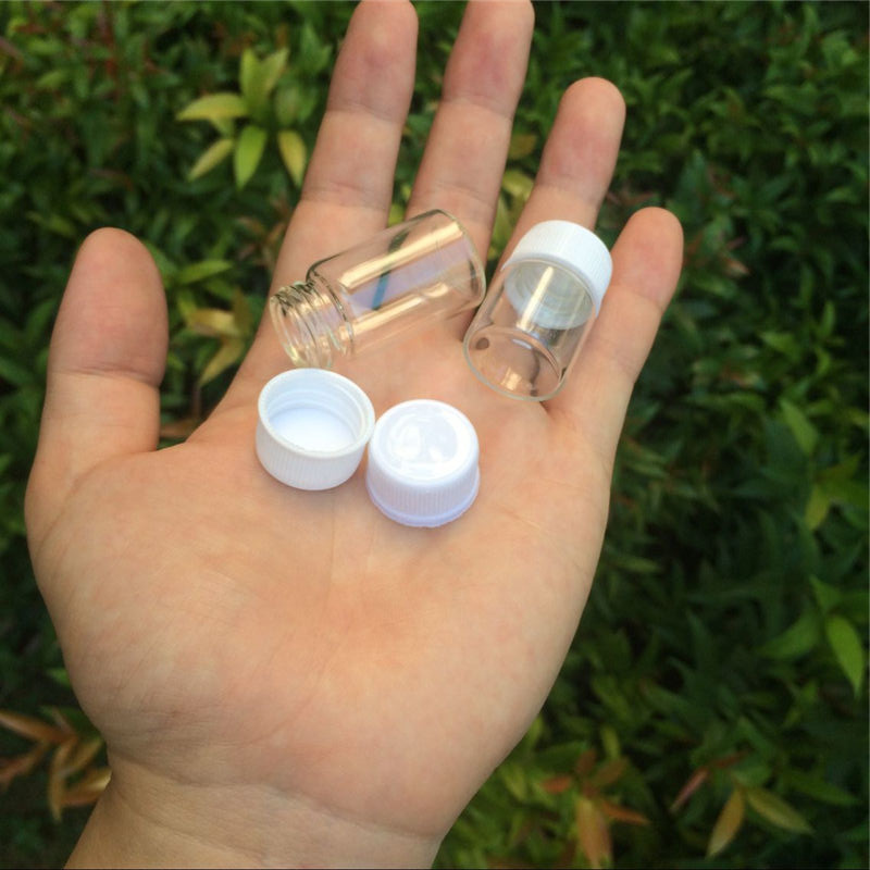 22x30x14mm 5 ml Glasflaschen Mit Kappe Transparent Klar Mini Leere Plastikflaschen Kosmetische Gläser container 100 stücke-in Speicherflaschen & Gläser aus Heim und Garten bei  Gruppe 2