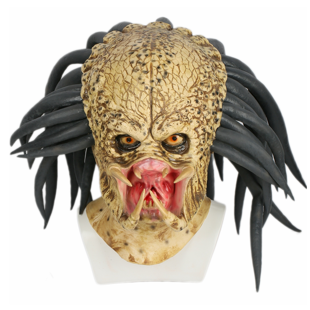 Coslive Predator Mask Costume Props Cosplay Outfit Accessories for Adult Halloween Party Show Predator Cosplay Mask