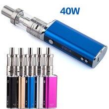 40W adjustable wattage display screen e cigarette Box Mod Starter Kit 40W 3ml Vape Tank 2200mah Electronic Cigarette